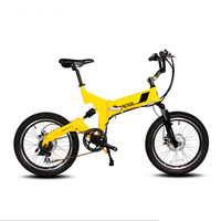 Super Light 20 Inches Folding ElectricTUV Li Battery Bicycle Double Disc Brake Mountain Bike Variable