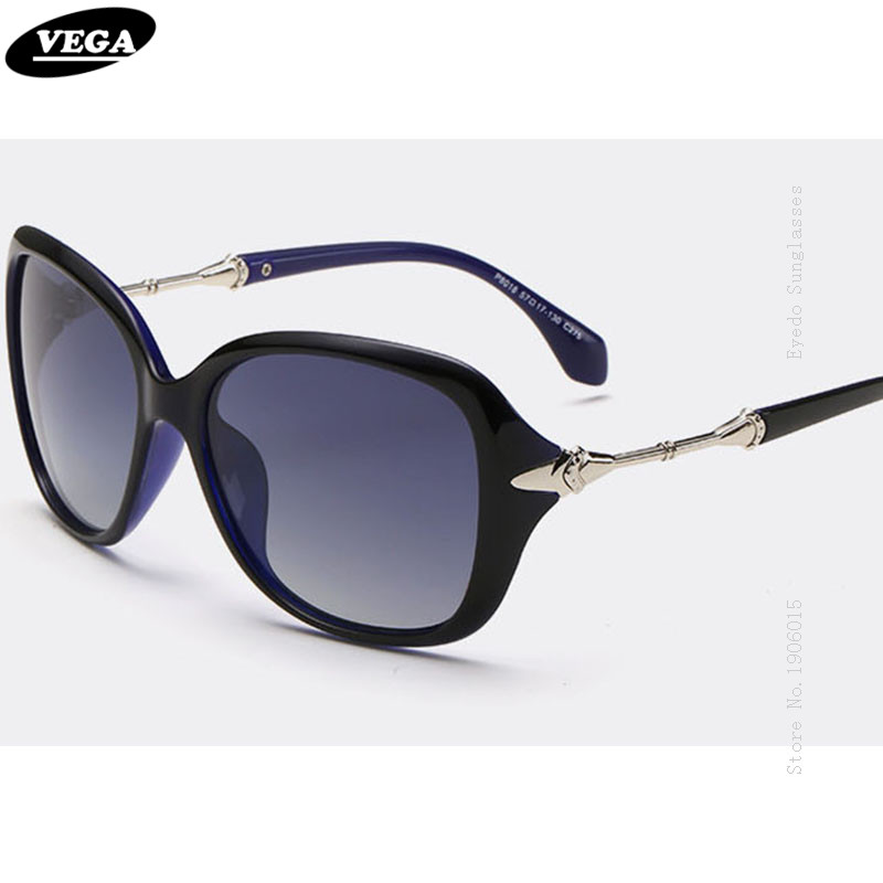 VEGA 2017 Stylish Ladies Polarized Sunglasses For Driving Travel Wrap Around Sun Glasses Women Fashion Designer Shades 8018