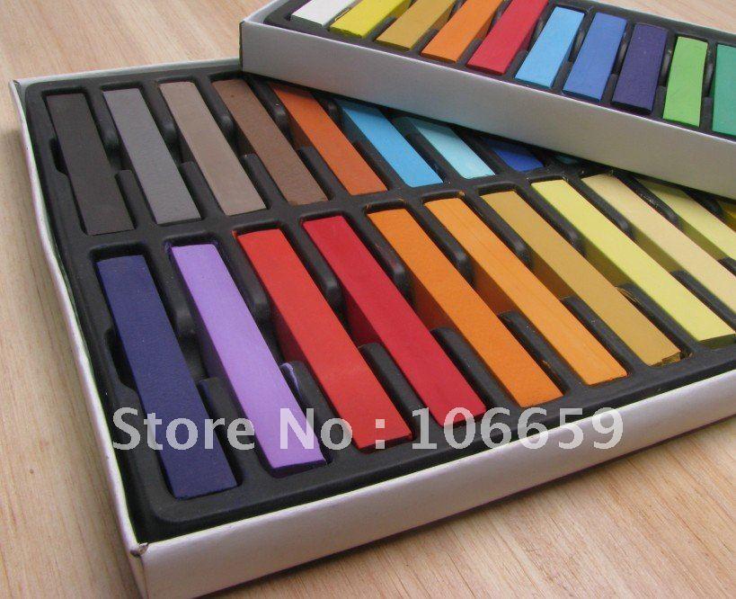 24 Colorbox30box720pcs Chalk Hair Temporary Hair Chalk Color Dye