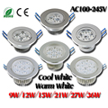 Mini Dimmable 3x3w 9W 12W 15W 21W Epistar LED Ceiling Downlights Light 110V/220V LED Downlight Lamp for Home/Outdoor
