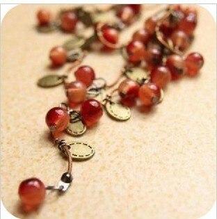 Women Necklace Red Cherries...