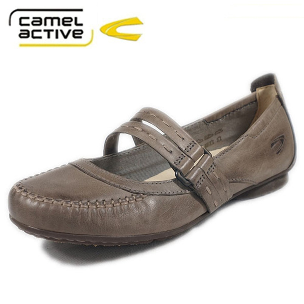 Camel Active made in Italy Top Brand shoes women's casual shoes with soft  leather leisure shoes bow mother shoes-in Women's Flats from Shoes on ...