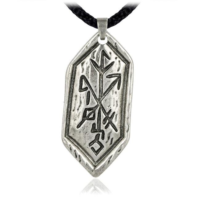 Ezei Strength Of Self Rune Pewter Pendant Celtic Norse Nordic