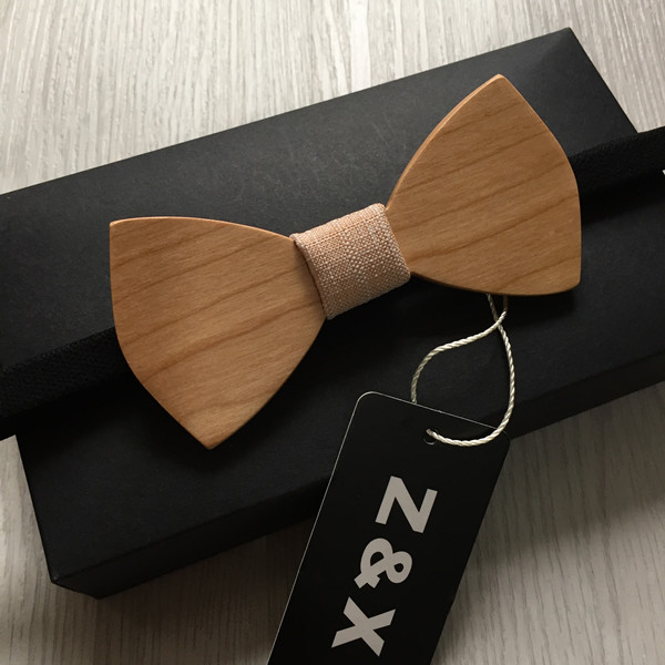 New 2016 Fashion Wedding Customized Personality Wooden Bow Tie For Men Bar Party Luxury Beautiful Wood Bowknot Wedding