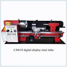 Bürstenlosen Motor Alle Metall Getriebe Mini Drehmaschine Mini Cnc Drehmaschine Maschine Digital Display 32mm Spindel Loch
