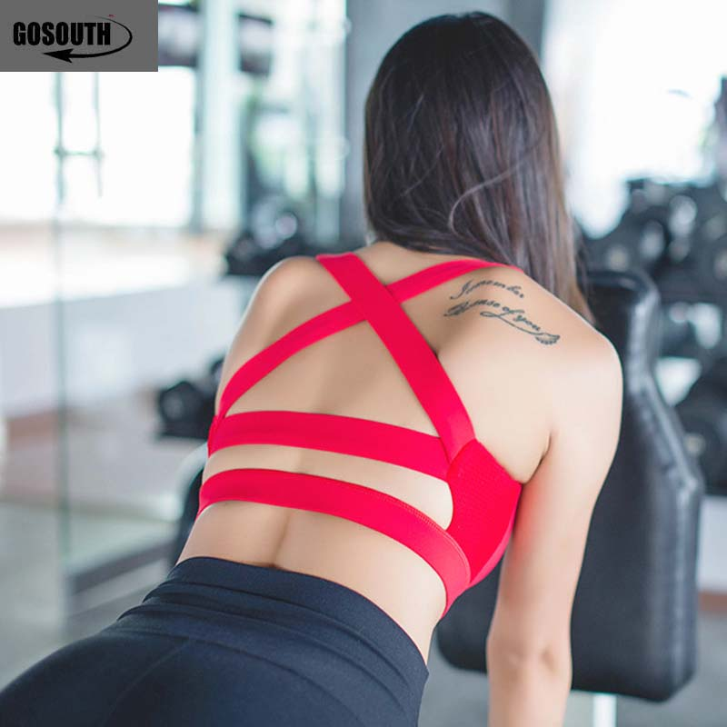 Woman Sexy backside  Sports Bra  Workout Jogging Push up