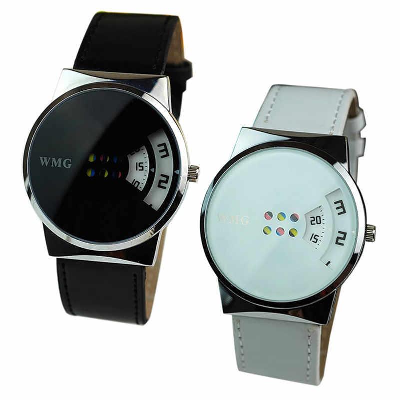 New Arrivals Women Watches Quartz Analog ClockCreative Colorful Carousel Scale Pu Leather Belt Ladies Watches Wholesale M01B