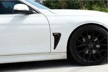 цена на Xdrive Emblem Logo Shark Gills Side Fender Vent Decoration Trim For BMW F30 F31 F32 F33 3D Stickers Auto Accessories