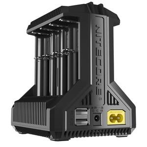 """Image 2 - Nitecore i8 חדש i4 i2 Intelligent מטען 8 חריצים סה""""כ 4A פלט חכם מטען עבור ליתיום 18650 16340 10440 AA AAA 14500 26650"""