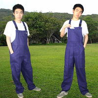 Aolamegs Men S Plus Size Bib Overalls Male Casual Jumpsuits Fashion Casual Blue Cargo Bib Pants