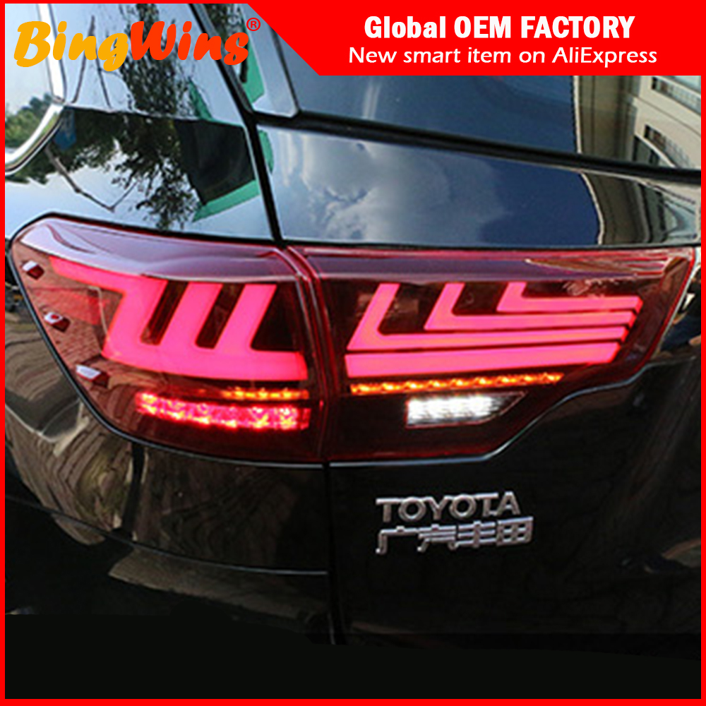 Us 390 1 17 Off Car Styling For Toyota Highlander Tail Lights 2018 2019 New Kluger Led Tail Light For Lexus Type Dynamic Turn Signal Rear Lamp In