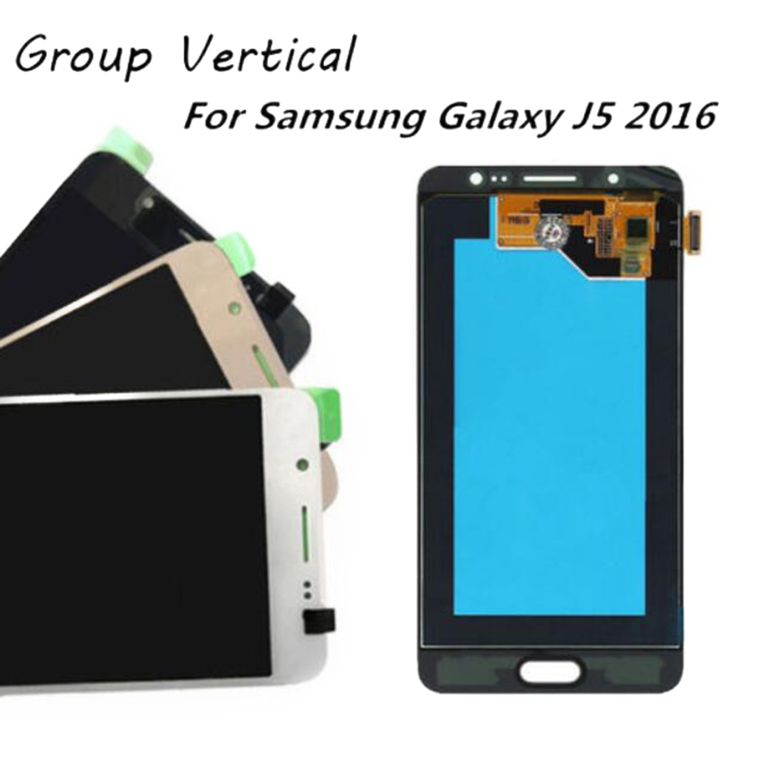 Replacement Parts TFT Screen For Samsung Galaxy J5 2016 LCD Display Touch Screen Digitizer Adjustable Brightness