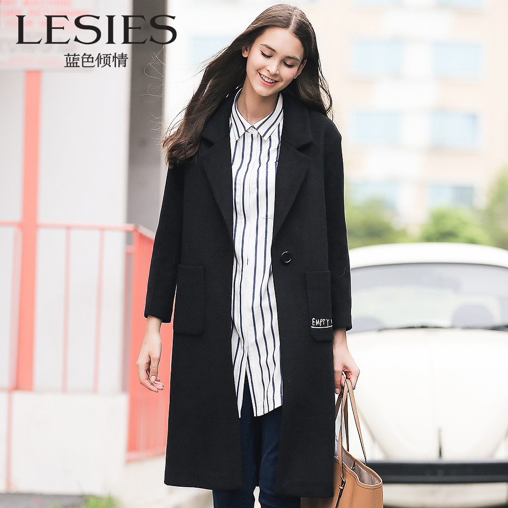 Online Buy Wholesale long black wool coats from China long black