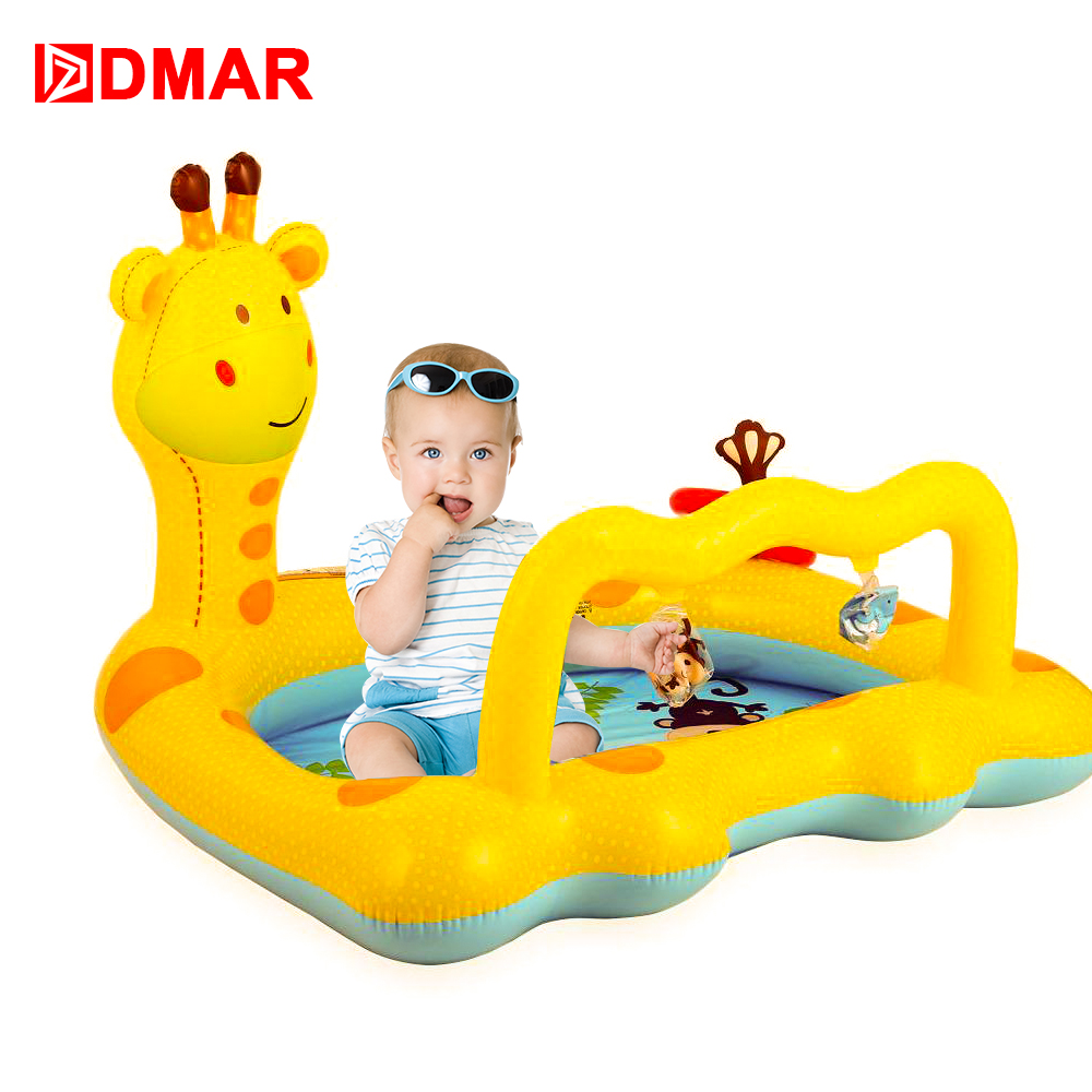 DMAR Inflatable Giraffe Pool for Kids Infants Baby Swimming Pool Float Toys Water Game Bathing Children Summer Donut