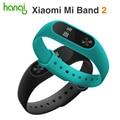 100% original xiaomi mi banda 2 miband 2 pulsera inteligente de ritmo cardíaco de gimnasio rastreador oled para android/ios teléfono