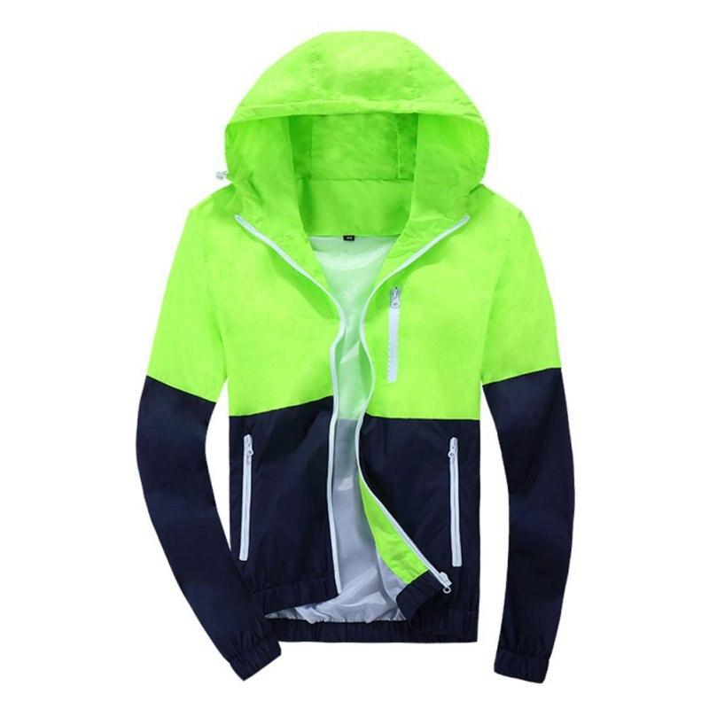 Spring Autumn Men's Women's Summer Casual Jacket Hooded Jacket Fashion Thin Windbreaker Zipper Coats S-XXXL a12