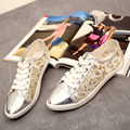 2017 Nova Chegada do Verão Mulheres Sapatos Rendas E PU Patchwork Respirável Lace-Up Apartamentos Mulheres sapato casual VJ101