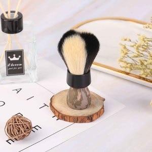 Image 4 - Yaqi Target Shot White And Black Synthetic Fibre Shaving Brush
