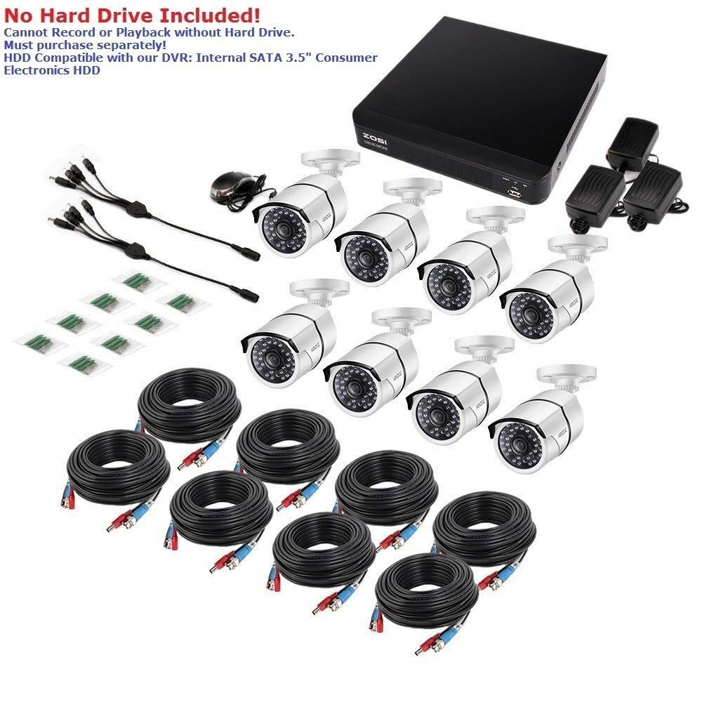 ZOSI 8CH CCTV System 1080P HDMI TVI 8CH DVR 8PCS 2.0 MP IR Udendørs - Sikkerhed og beskyttelse - Foto 4