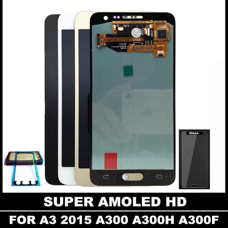 100 Tested AMOLED LCD for Samsung Galaxy A3 2015 A300 A3000 LCD Display Touch Screen Digitizer