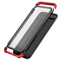 For Apple IPhone X Case Luxury Transparent Glass Slim Metal PC Cover Frame Armor IPhonex Case