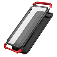 For Apple IPhone X Case Luxury Frame Armor Transparent Glass Slim Metal PC Cover IPhonex Case