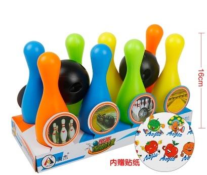 Plástico Lindo Toy Bowling bowling Balls Juego Del Bebé juguetes de bebé Intelectual regalo de los deportes para el aprendizaje educación