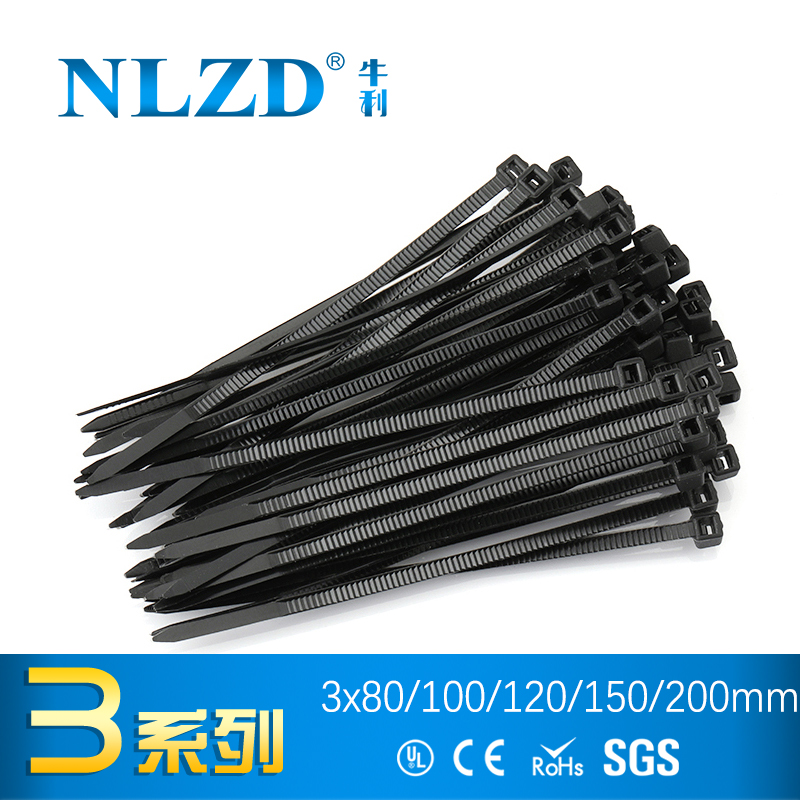 8c8aaa9593be 1000(500)pcs Black Self Locking Cable Tie High Quality Nylon Fasten Zip  Wire Wrap Strap 3x100mm 3*80 3x120 3*150 3X200 plastic -in Cable Ties from  Home ...