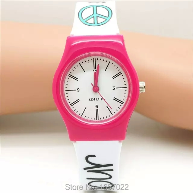 Unisex Fashion Women Fresh Quartz Wristwatch Individuality And Style Promotion Kids Girl Lovely Design Plastic Dress Watch