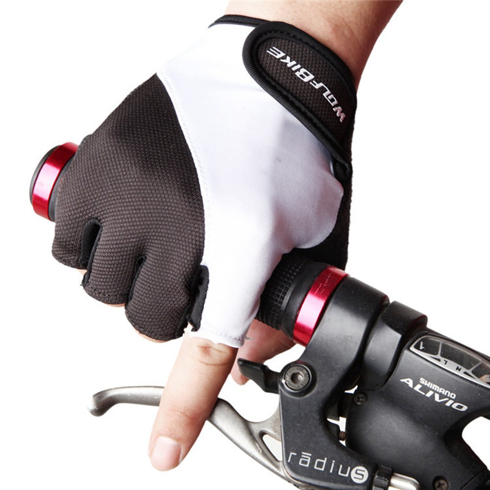 Ladies leather cycling gloves - Wosawe Cycling Gloves Pu Leather Racing Mtb Mountain Bike Bicycle Motorcycle Fitness Motor Cross Ciclismo Short