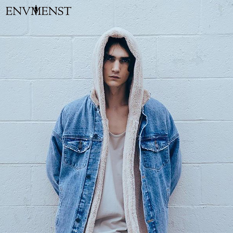 Envmenst 2017 new Spring Plush  jacket cotton unix fastion men ja hip hop men brand clothing Hign Street jacket coat men