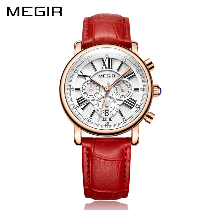 MEGIR Fashion Women Bracelet Watches Top Brand Luxury Ladies Quartz Watch Clock for Lovers Relogio Feminino Sport Wristwatches 2016 new hot sale brand magic star black white analog quartz bracelet watch wristwatches for women girls men lovers op001