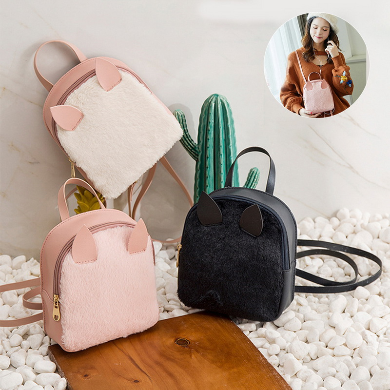 Women Mini Backpack Cute Small Bag PU Leather Ear Backbag Mochila Feminina Escolar 2018 Crossbody Bags for Women Book Hand Bag -in Backpacks from Luggage & Bags on Aliexpress.com | Alibaba Group