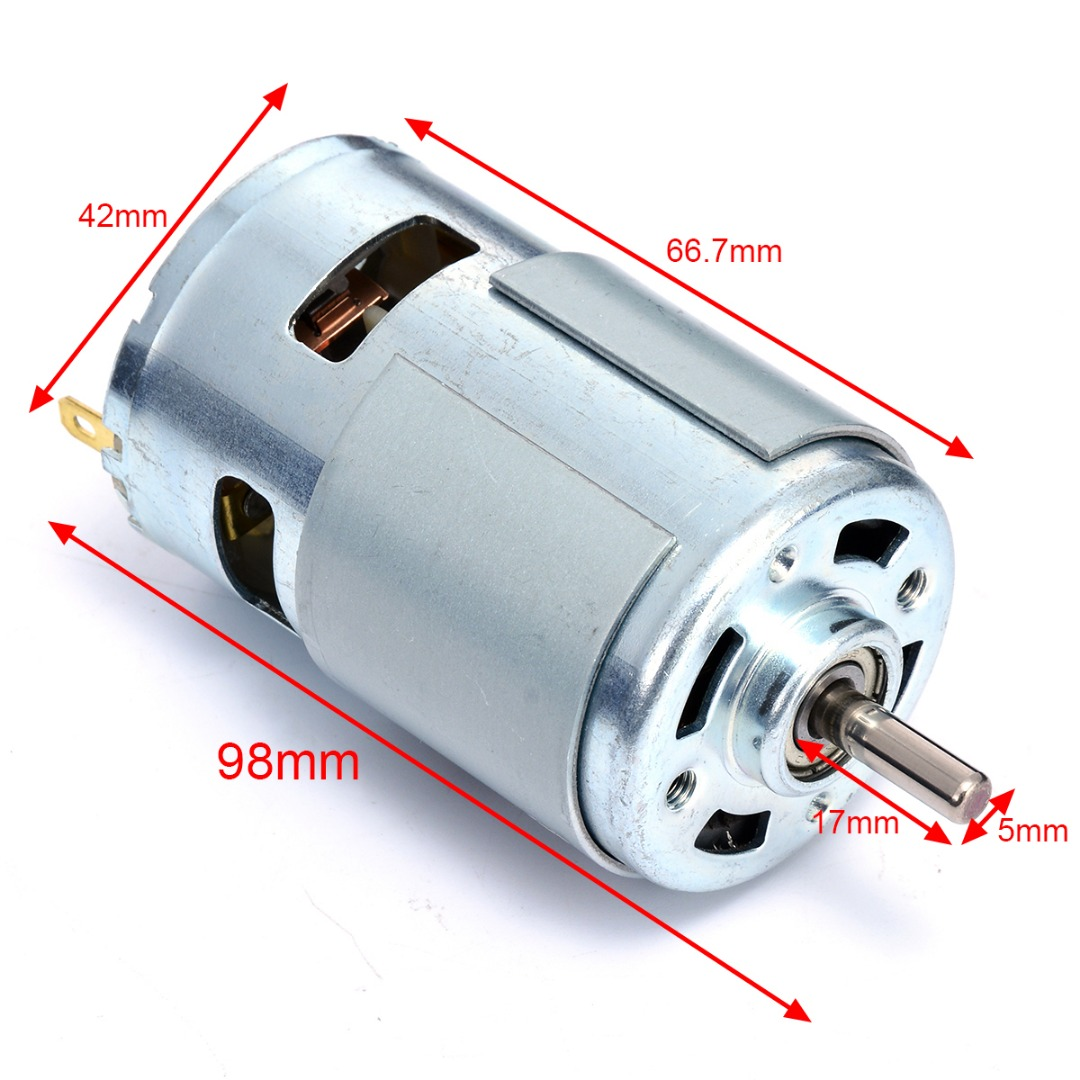 12V 775 Miniature DC Brush Motor Large Torque High Power for Electric Tools