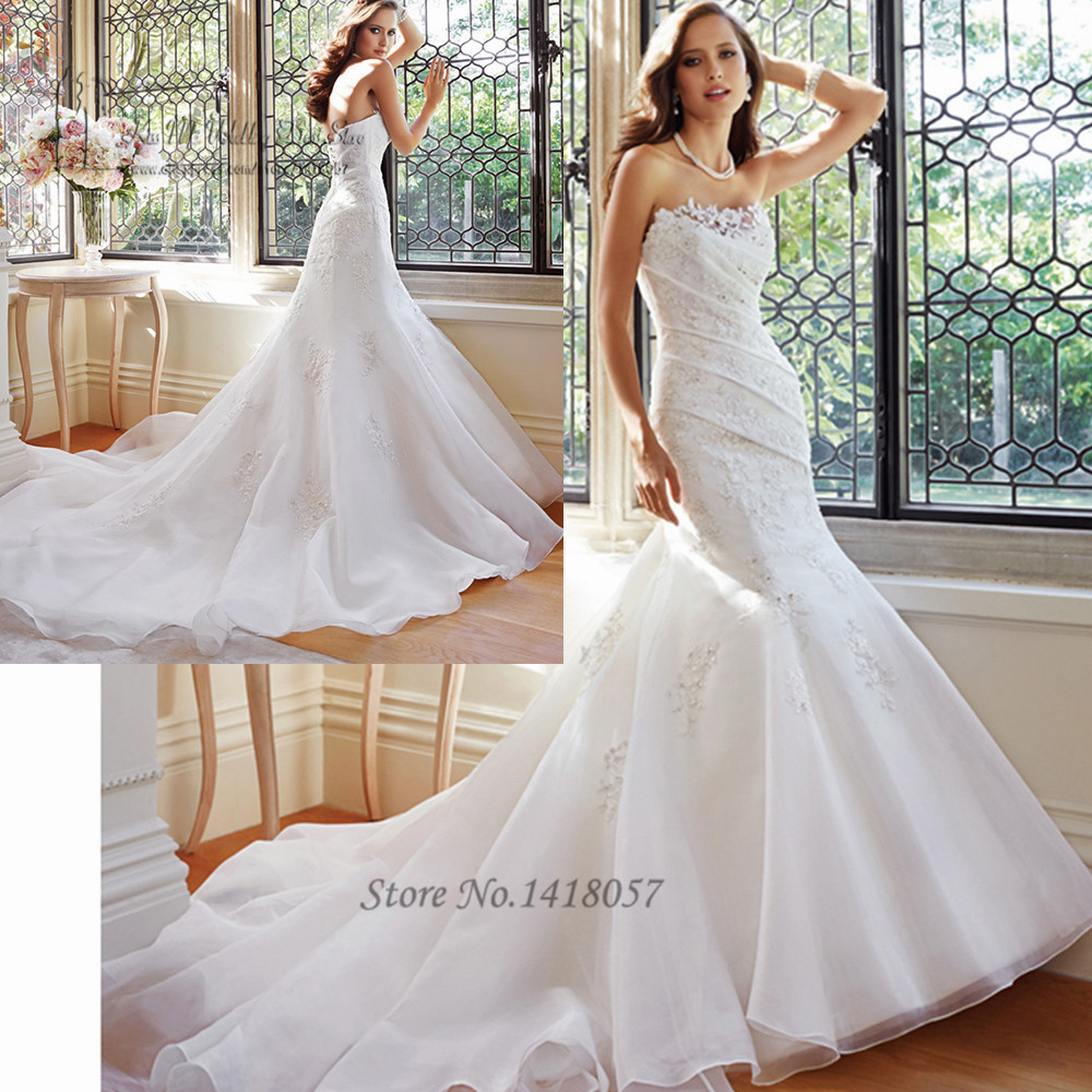 Robe de mariage modern white mermaid wedding dresses for Modern vintage lace wedding dress