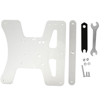 Y Axis Carriage Metal With Screw Three Point Leveling Modulary Silver Support Plate 3D Printer Accessories Hot Bed Platform Tool