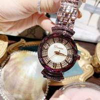 2019 Fashion Top Brand Luxury Fully Diamond Women Watches Quartz Waterproof Stainless Steel Wrist Watches For Women Small Watch