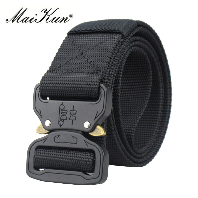 Military Equipment Combat Tactical Belts for Men US Army Training Nylon Metal Buckle Waist Belt Outdoor Hunting Waistband 3.8cm