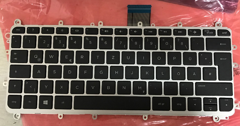 New notebook laptop keyboard for HP Spectre x360 13T-4000 13-4000 4001 4103DX  GR IT GERMAN /ITALIAN layout restaurant pager watch wireless call buzzer system work with 3 pcs wrist watch and 25pcs waitress bell button p h4