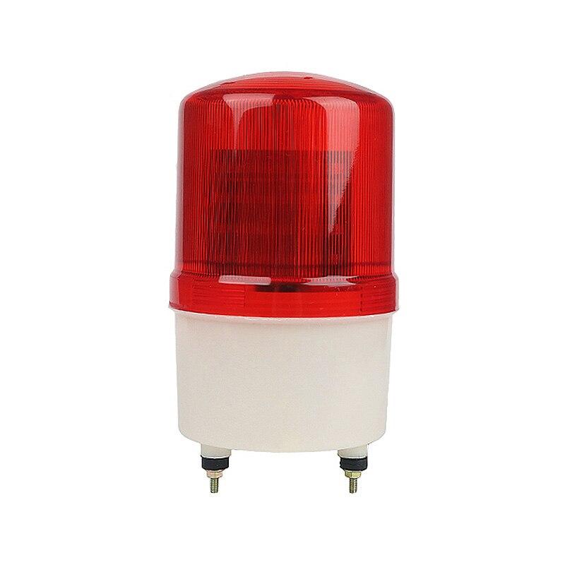 De señal Industrial sonido zumbador alarma 110 V 220 V, 24 V DC 12 V Rotary Flash estroboscópico sirena de emergencia lámpara de advertencia rojo LTE-1101J