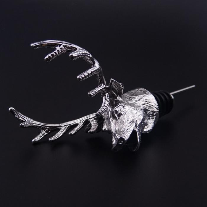 118x80mm Alloy Deer Stag Head Wine Pourer Wine Bottle Stoppers Aerators Bar Tools HG99