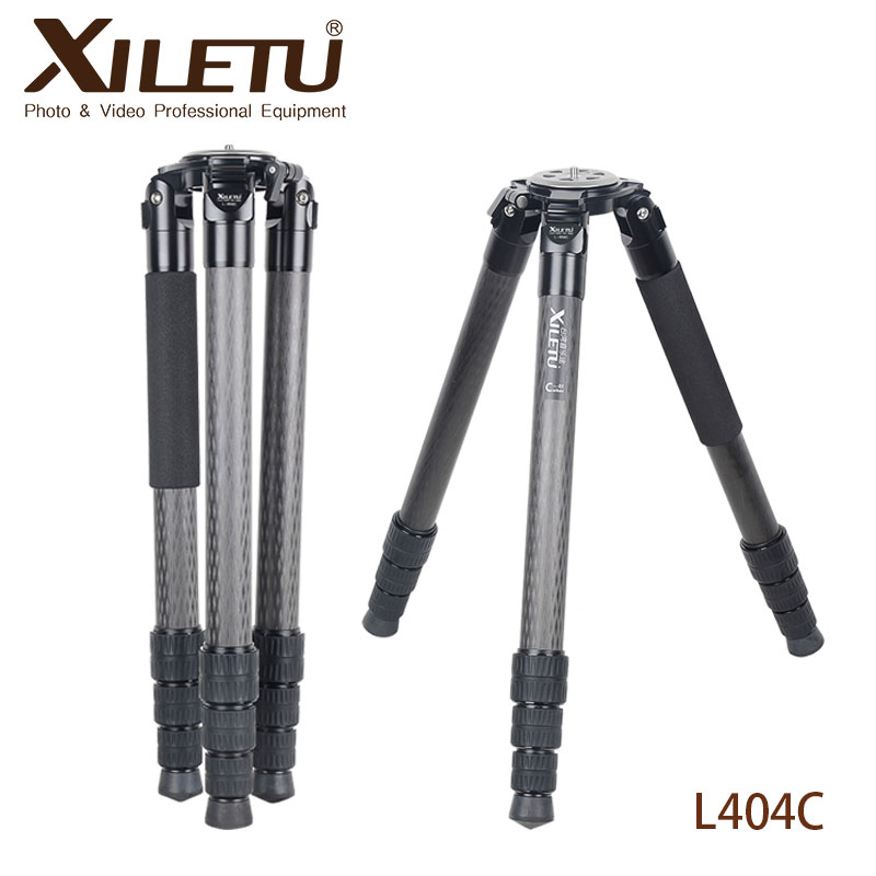 XILETU Professional Stable Photography Bird Watching Carbon Fiber Tripod For Digital Camera Video Camcorder With Shoulder Pads benro c38tds2 carbon fiber tripod kit bird watching monopod kit professional video camera slr tripod stable support for canon