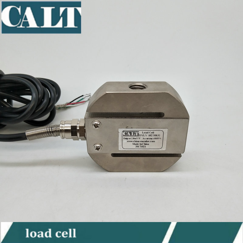 CALT DYLY102 1000kg 2t 3t 5 ton Round S type beam force sensor pull and compression load cell scale test weight 1pcsx pressure sensor s load cell electronic scale sensor weighing sensor 2t 3t 4t 5t