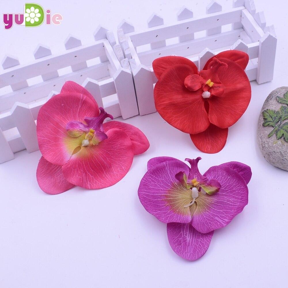 ̿̿̿(•̪ )10pcs 9 Limi rayon butterfly\'s touch orchid head, DIY flower ...