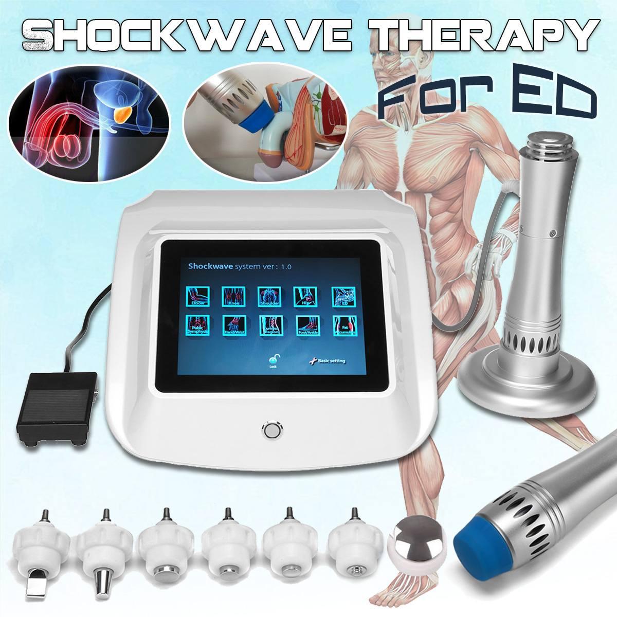 Tratar a ED portátil onda de choque equipo de fisioterapia terapia de ED tratamiento de alivio del dolor Shockwave terapia de la máquina