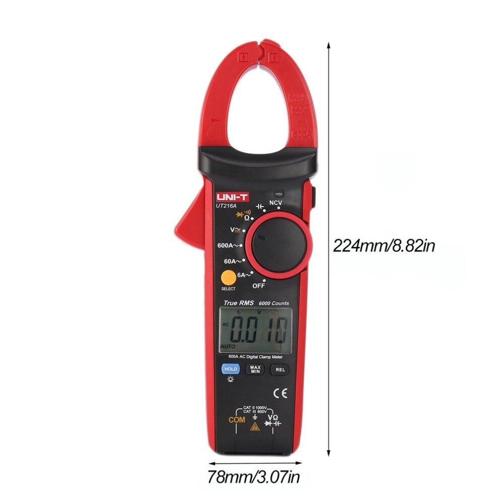 Pince numérique mètres unité DC/AC Volt Amp Ohm Diode multimètre ampèremètre multitesteur résistance de tension de courant NCV testeur sonde
