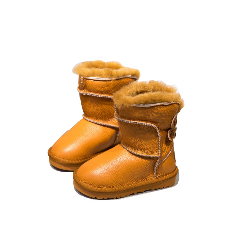 girls boys winter boots full size snow boots from 26 to 37 waterproof antiskid children warm boots man made fur lining 2016 new winter kids snow boots children warm thick waterproof martin boots girls boys fashion soft buckle shoes baby snow boots