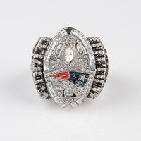 2004 Replica Super Bowl New England Patriots Championship Ring For Fans Bottom Price Free Shipping 18k