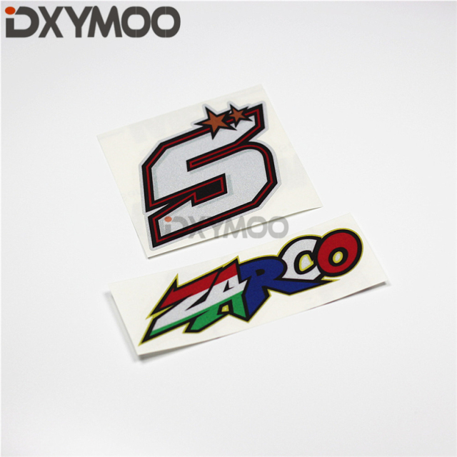 Car Stickers Motorcycle Helmet Auto Window Phone Vinyl Decals for MotoGP 5 ZARCO-in Car Stickers ...