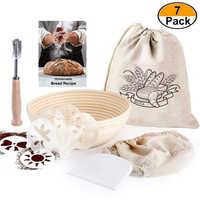 9 pouces ronde Fermentation rotin panier pain de campagne Baguette pâte Banneton Brotform preuve paniers 7 Pack ensemble
